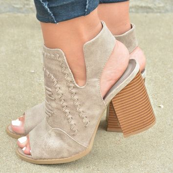 It's a Beautiful Day Booties - Taupe