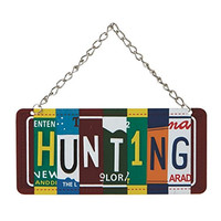 Hunting - License Plate Christmas Ornament