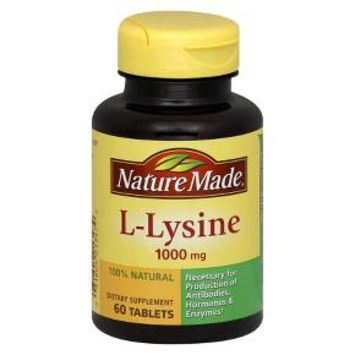 Nature Made L-Lysine 1000 mg Tablets - 60ct