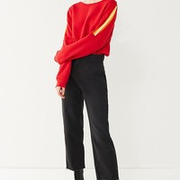 Project Social T Jack Stripe Sleeve Inset Sweatshirt | Urban Outfitters