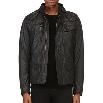Matchless Black Hooded Kensington Jacket