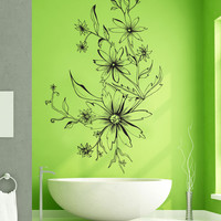 Vinyl Wall Decal Sticker Wildflower Design #1246