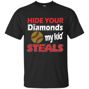 My Kid Steals Softball Mom or Dad Ultra Cotton T-Shirt