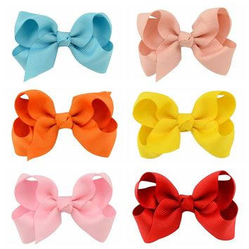 1pcs 3 Inch Grosgrain Ribbon Bows Hair Accessories With Clip Boutique Bow Hairpins Hair Accessory for Girl Gift 563