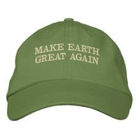 MAKE EARTH GREAT AGAIN - MEGA EMBROIDERED BASEBALL HAT