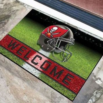 Tampa Bay Buccaneers Door Mat 18x30 Welcome Crumb Rubber