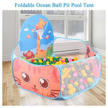 Foldable Kids Ocean Ball Pools Kids Play Tent Indoor Outdoor For Children Gift piscina de bolinha House Play Hut Pool Play Tent