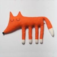 Large Monty the Fox Lambswool Plush Made to order by saracarr