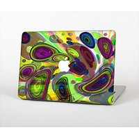 The Warped Colorful Layer-Circles Skin Set for the Apple MacBook Air 11""