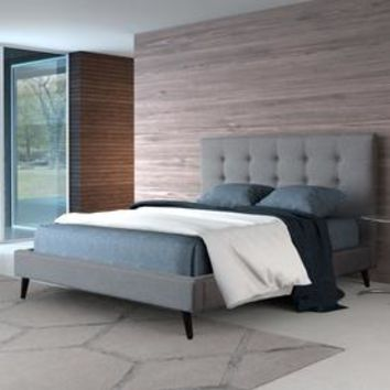 Shop Zuo Modern Modernity Gray King Upholstered Bed at Lowes.com