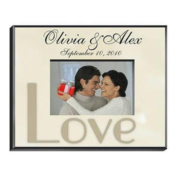 Parchment Love Picture Frame Free Engraving