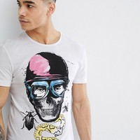 Blend Insect Skull T-Shirt at asos.com