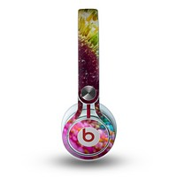The Vibrant Colored Wet Flower Skin for the Beats by Dre Mixr Headphones