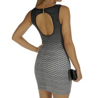 Charcoal Glitter Ombre Bodycon Dress