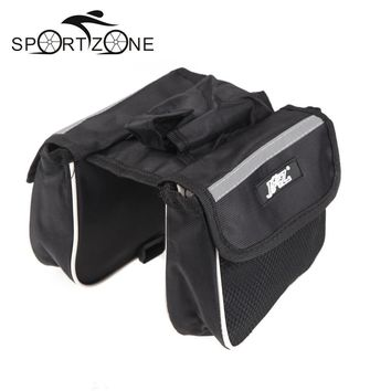 High Quality Cycling Bicycle Bike Top Frame Front Pannier Saddle Tube Bag Double Pouch