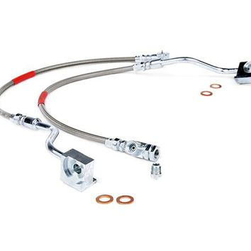 Ford Bronco Front Extended Stainless Steel Brake Lines for 4-6-inch Lifts 1980 - 1996