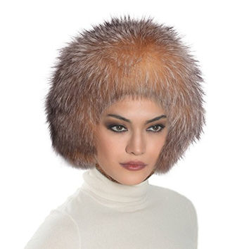 Eric Javits Designer Women's Head-wear Fox Helmet Hat (Crystal Fox)