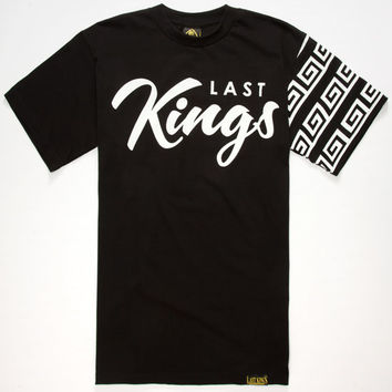 Last Kings Checked Mens T-Shirt Black  In Sizes