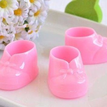 8 Pink Baby Booties Booty Mini Baby Shower Gifts Gender Reveal Favors Decor