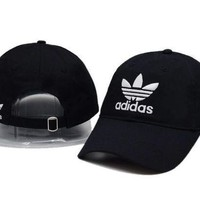 GPDQ7 Black Adidas Logo Cotton Outdoor  Sports Baseball Golf Cap Hats