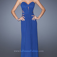 Strapless Sweetheart Bodice Prom Gown by La Femme