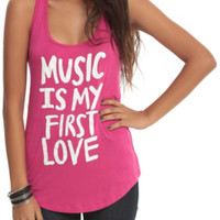 Music Is My First Love Girls Tank Top