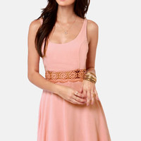 I Mid You Not Blush Pink Lace Dress