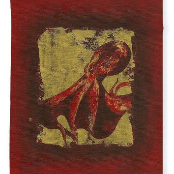 Spotted Red Octopus - Blanket