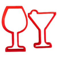 Wine and Margarita Glasses Cookie Cutter