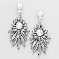 Mckensie Floral Dangle Evening Earrings