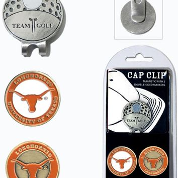 NCAA Texas Longhorns Hat Clip & 2 Magnetic Golf Ball Markers