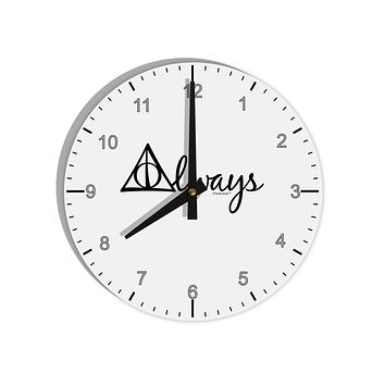 "Always Magic Symbol Cursive 8"" Round Wall Clock with Numbers by TooLoud"