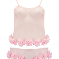 Sakura – Sheer Pink Tulle Set With Petal Trim