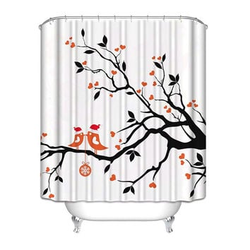 black white red shower curtain. Love Birds in a Tree Black White Red Polyester Fabric Shower Cur Best Curtain Products on Wanelo