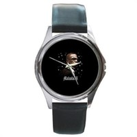 Malcolm X Black History Month Silver Stainless Steel Watch Round