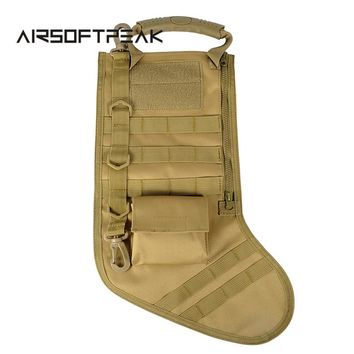 Tactical Christmas Stocking with MOLLE Straps Dump Drop Pouch Christmas Storage Bag Military Hunting Magazine Pouches