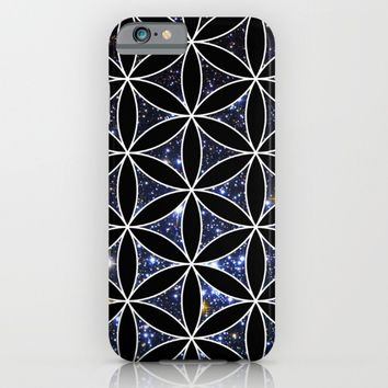 Flower of life in the space iPhone & iPod Case by Azima