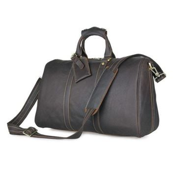 Men's Genuine Leather Travel Bag