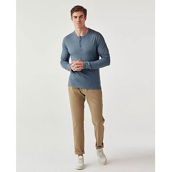 Olivers - Convoy Henley Blue Note Long-Sleeve