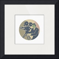 """Cameraman Moviemaker Vintage Camera Retro"" by Aloysius Patrimonio"