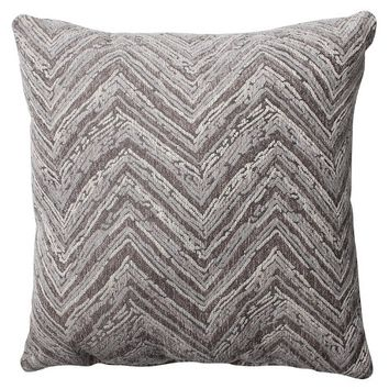 "Pillow Perfect Union Driftwood Chenille Throw Pillow - 16.5""x16.5"" - Grey"