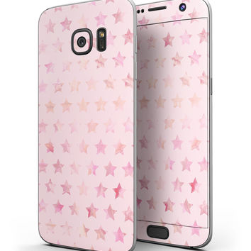 The Baby Pink Watercolor Stars - Full Body Skin-Kit for the Samsung Galaxy S7 or S7 Edge