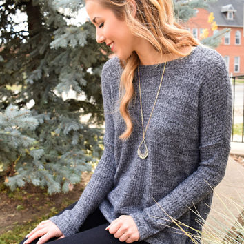 Weekend Forever Charcoal Sweater