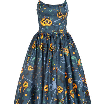 Pinup Couture Jenny Dress in Lantern Print