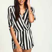 BLOW THE WHISTLE WRAP ROMPER