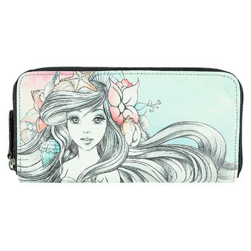 Disney Parks Ariel Watercolor Wallet by Loungefly New with Tag