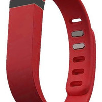 Fast Jewelry® Red Replacement Wrist Band for Fitbit Flex Bracelet Sport Arm Band Armband-Large
