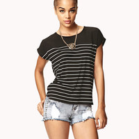 Striped Combo Tee | FOREVER 21 - 2053342256