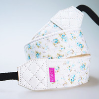 Camera Strap  Mini Floral for DSLR and Mirrorless Light by lunaviz