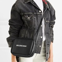 BALENCIAGA Everyday printed textured-leather camera bag